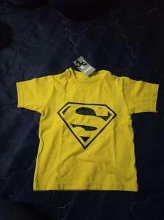 Kaos anak superman kuning