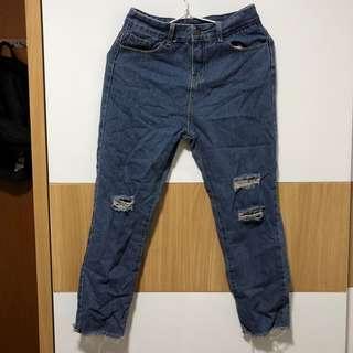 🚚 SALE: dark denim ripped jeans