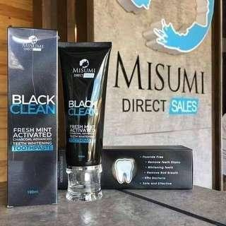 Black Clean Fresh Mint Activated Charcoal Teeth Whitening Toothpaste 100 ML