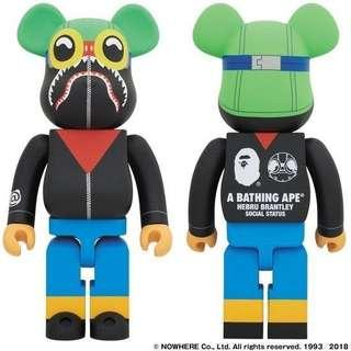A BATHING APE HEBRU BRANTLEY Be@rbrick Bape 400%