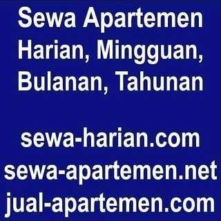 Jual Sewa Apartemen Harian Mingguan Bulanan Tahunan, Juga disewakan rumah, villa, dijual rumah jakarta