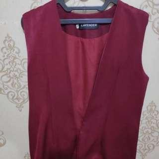 Maroon Outer Vest (Hijup)