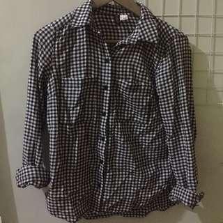 h&m shirt kemeja tartan kotak