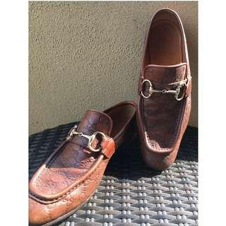 Gucci Brown Monogram Horsebit Loafer