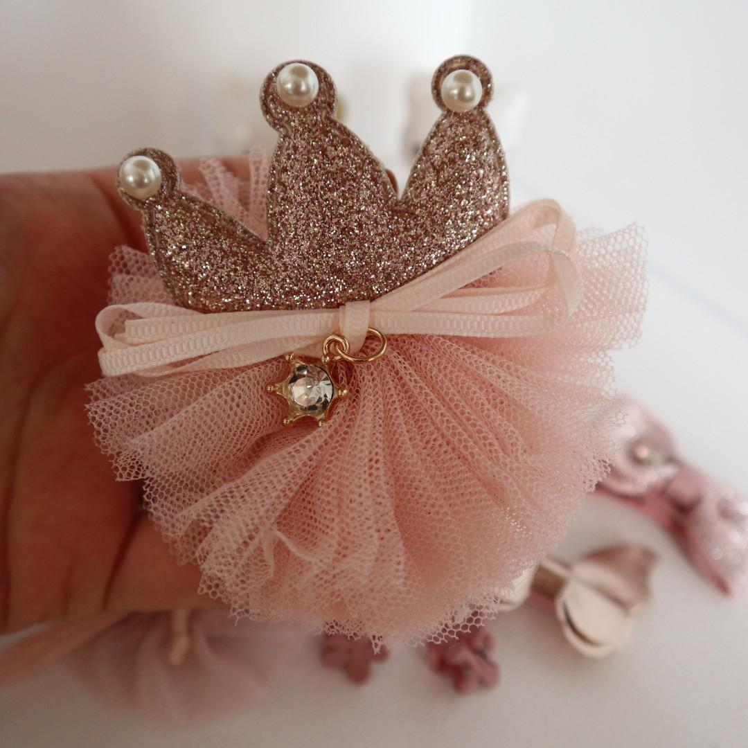 ( New arrival ) Brand New girls hair accessories in 10 pieces (Pink colour) #BK301