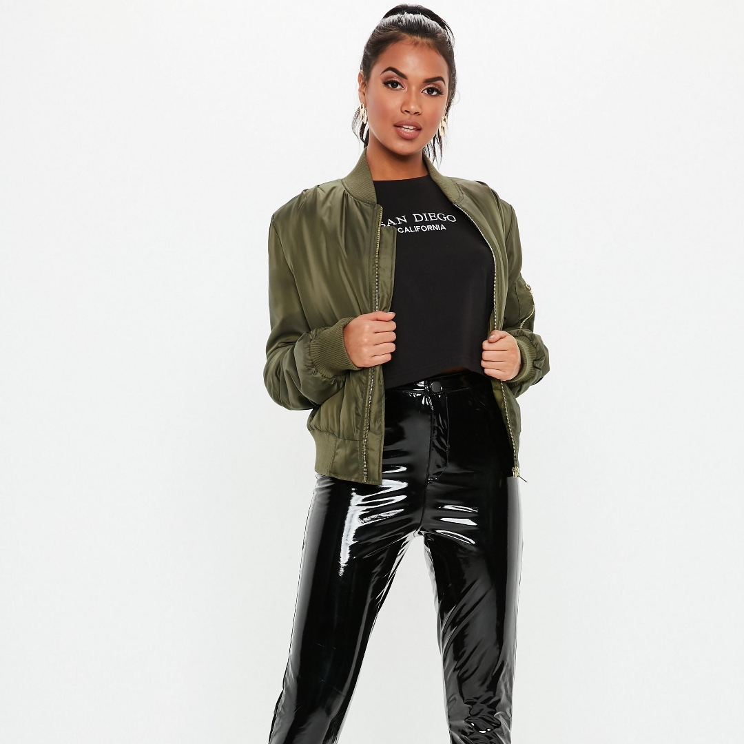 db369216afa NFS ATM - MISSGUIDED Army Green Ultimate MA1 Bomber Jacket