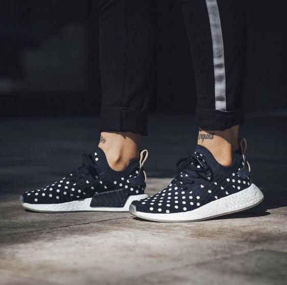quality design a06f8 68eb9 Adidas NMD R2 Prime knit Navy Polka Dot on Carousell