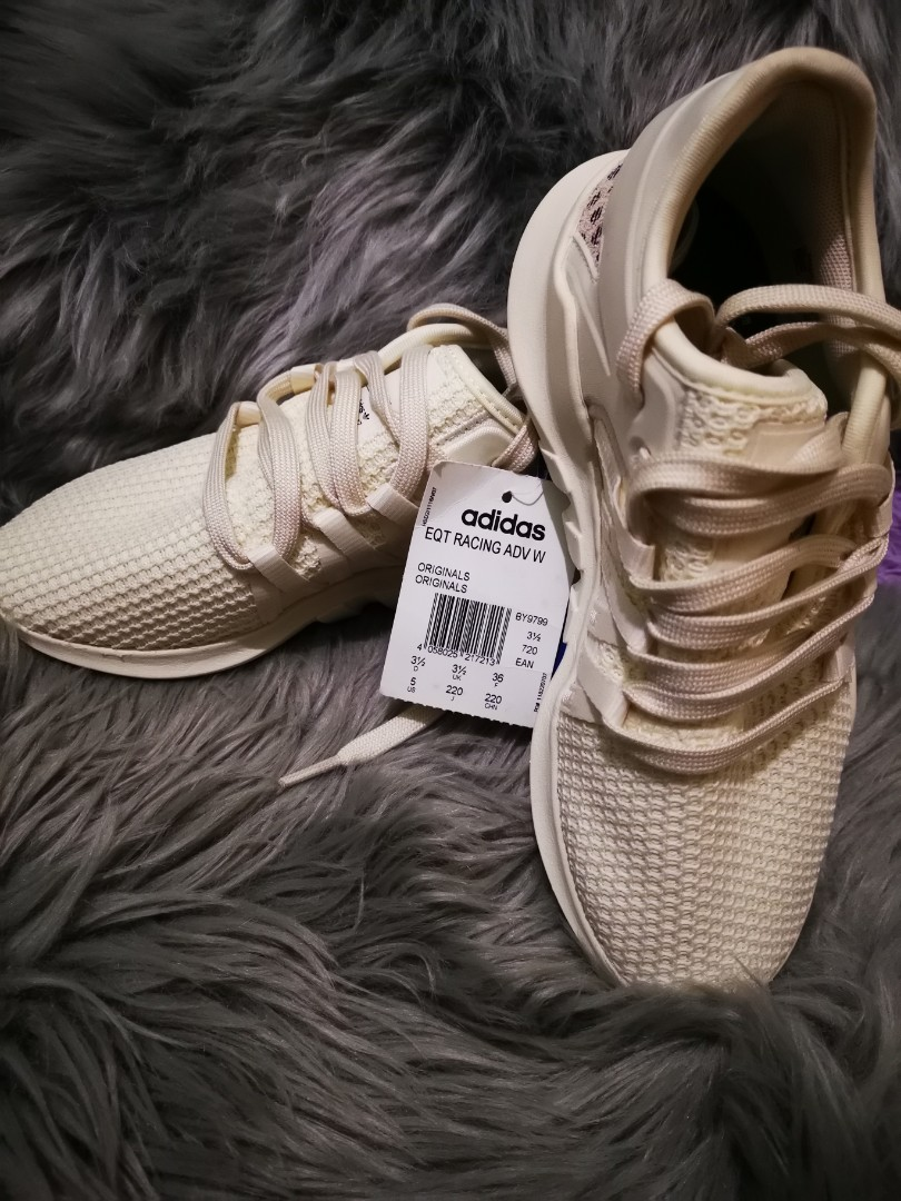 cee93bf7957 Adidas Originals Women Eqt Racing Adv W Off White Black Running Gym Shoes  BY9799