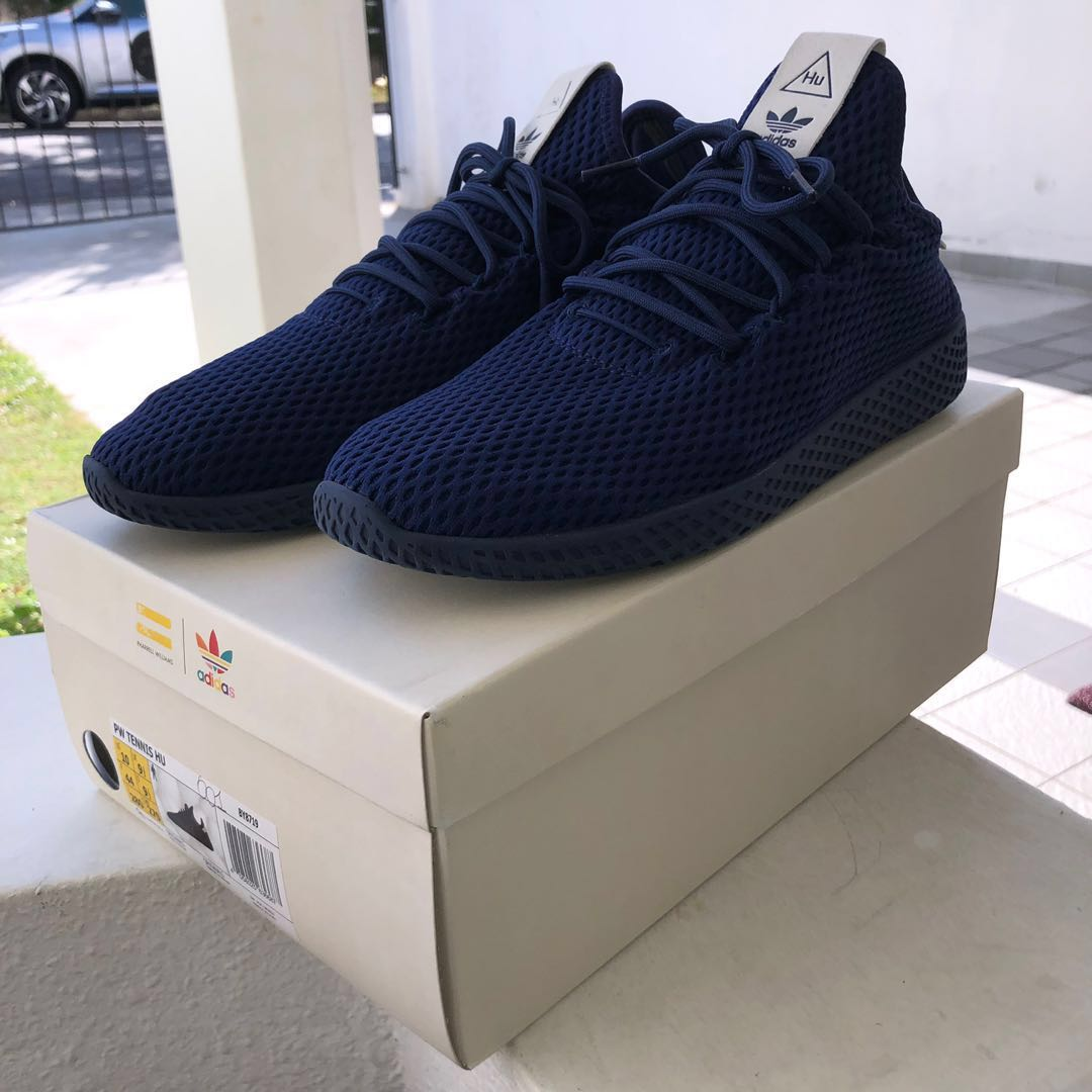 220828a39 Adidas Originals X Pharrell Williams PW Tennis HU (Navy) - Pre-loved ...