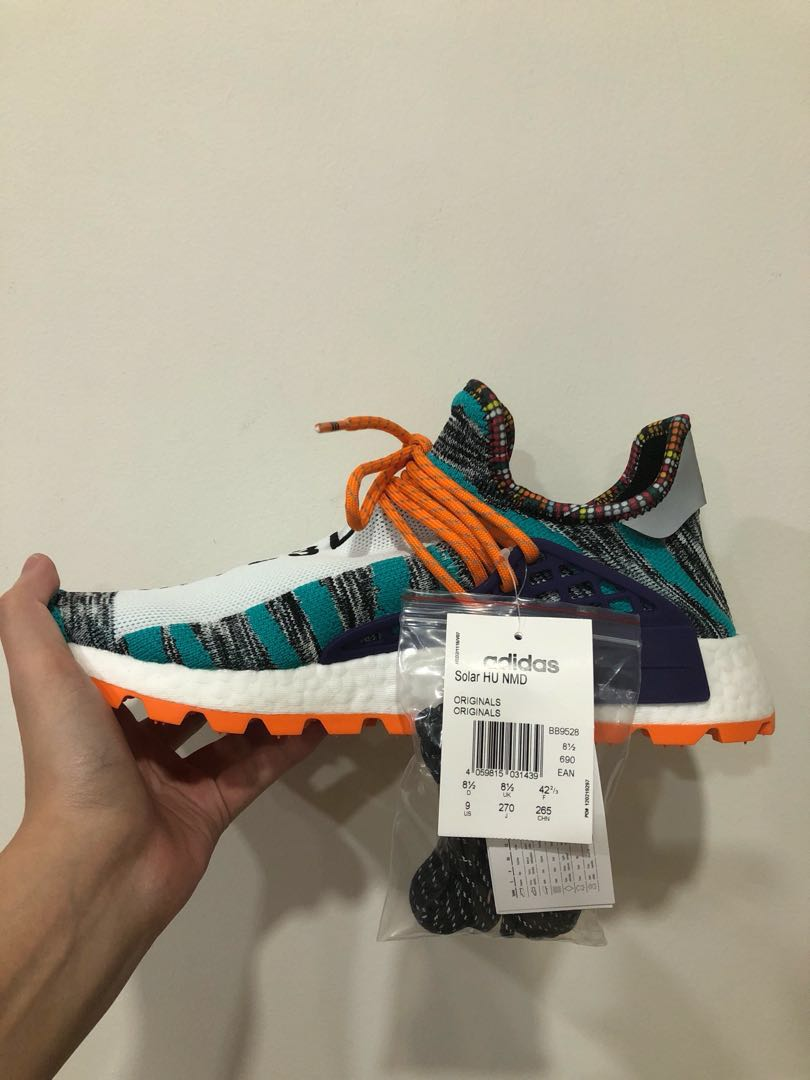 0e87e7abf Adidas Solar Pack Hu NMD Aqua Orange US9