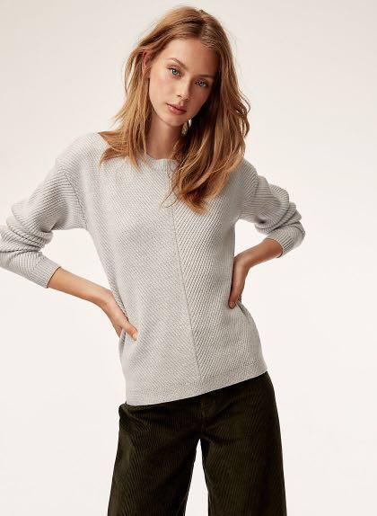 Aritzia Wilfred Isabelli Sweater XXS Grey