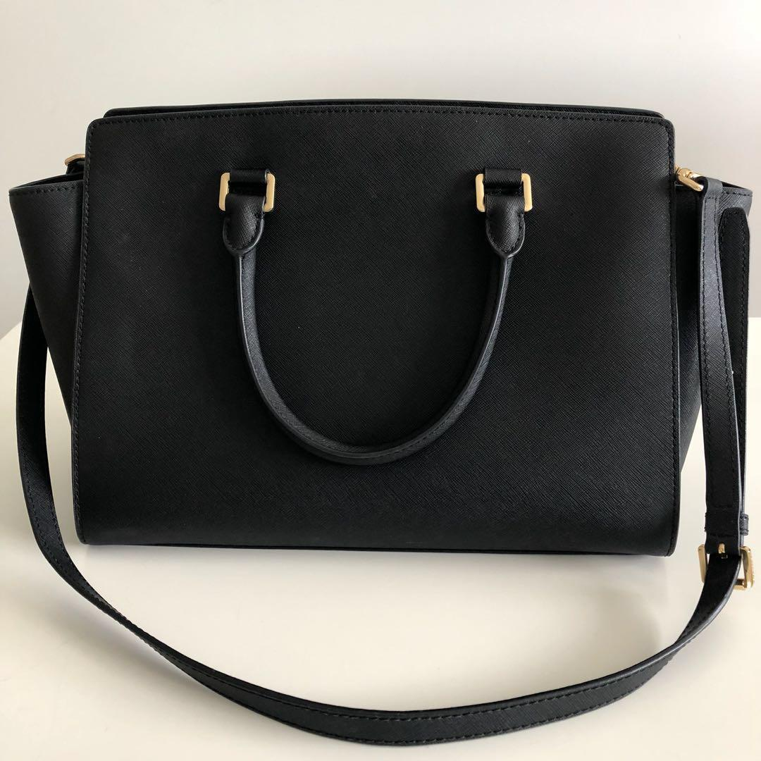 AUTHENTIC Black Michael Kors Tote Bag