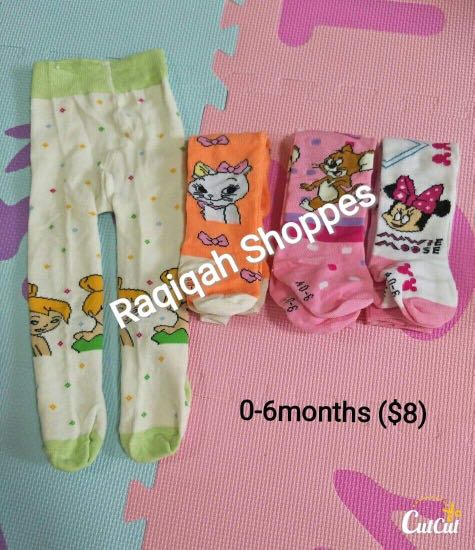 579cdade37573 Baby girl footed leggings, Babies & Kids, Babies Apparel on Carousell