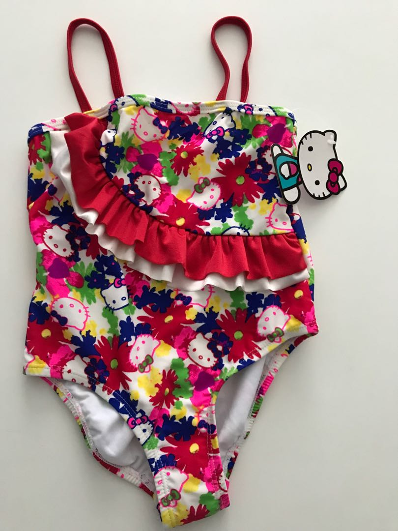 74aa2e6501d01 Baby Girl Swimsuit hello kitty 5/6 month old, Babies & Kids, Girls ...
