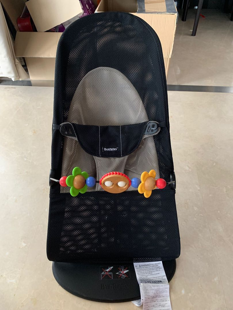 2119c2f95 Babybjorn mesh bouncer with google eyes toy