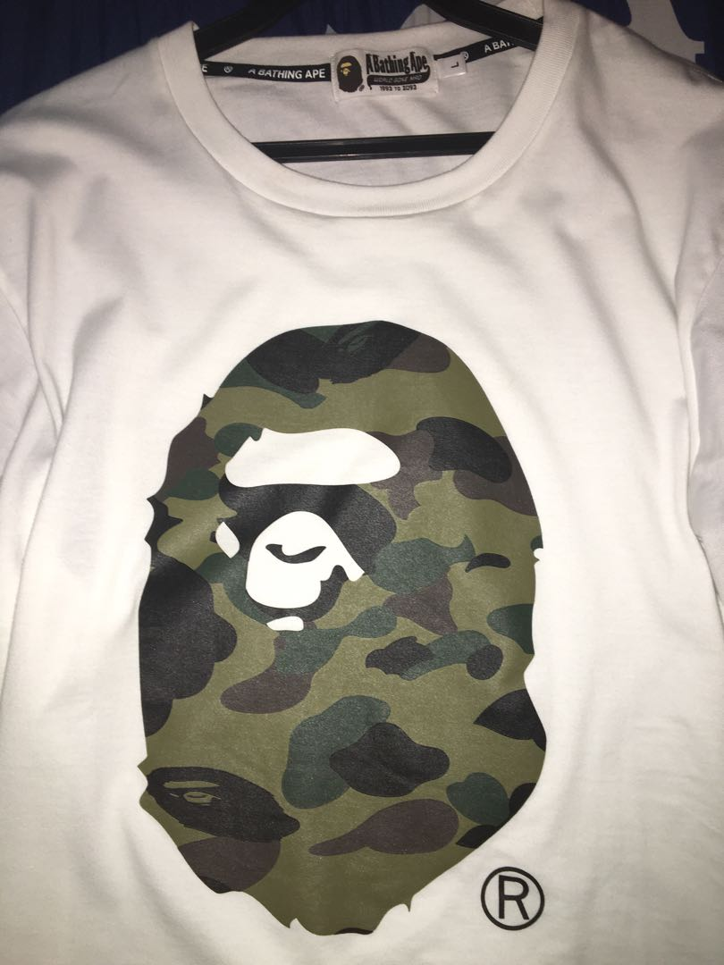 a99f6f2c Bathing ape t shirt Hypebeast, Men's Fashion, Clothes, Tops on Carousell