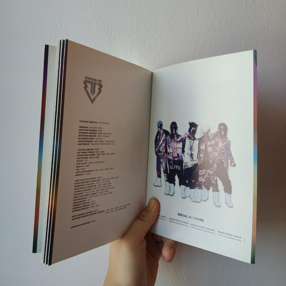 Bigbang Alive Galaxy Tour: The Final in Seoul live CD + Bigbang Alive album official photo book