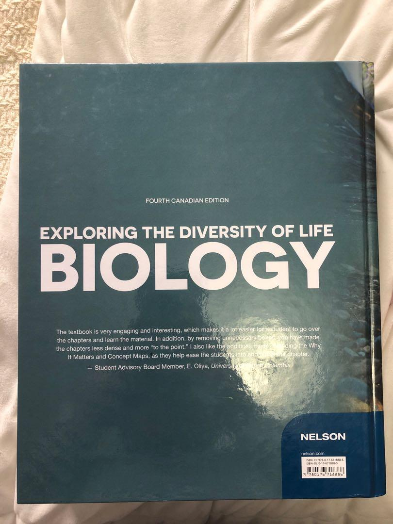 BIOLOGY: Exploring the diversity of life 4th edition