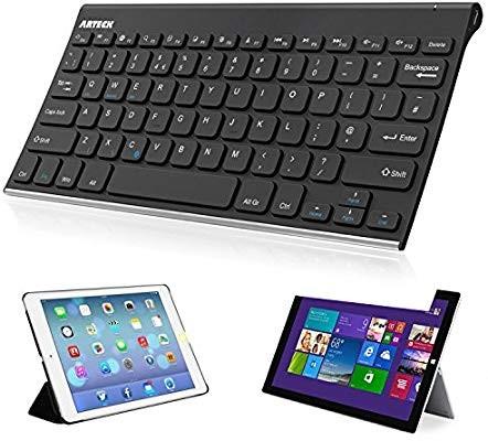 Bluetooth Keyboard, Stainless Steel Universal Portable Wireless Bluetooth  Keyboard for iOS, Android, Windows Tablet PC Smartphone