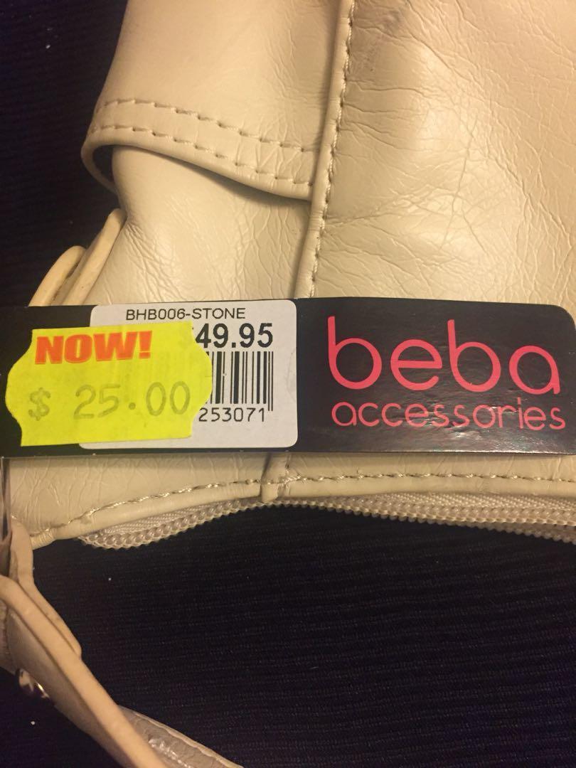 Brand new beba accessories cream handbag
