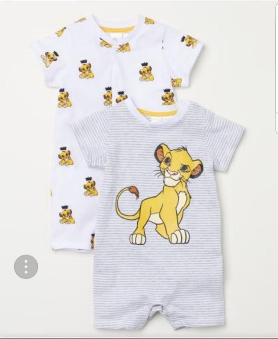 6fa79e42d9a4 Brand New H M Disney Lion King Cotton Romper For Baby Boy