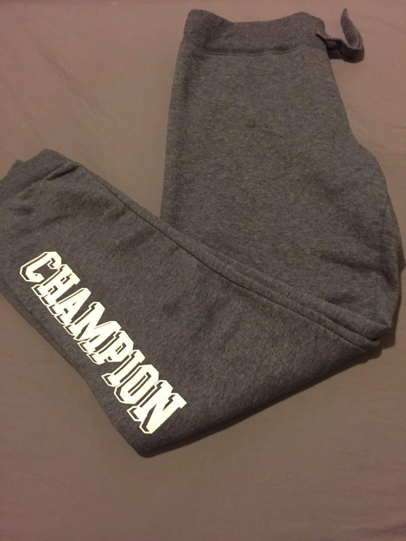 Champion Charcoal block tracksuit pants M womens