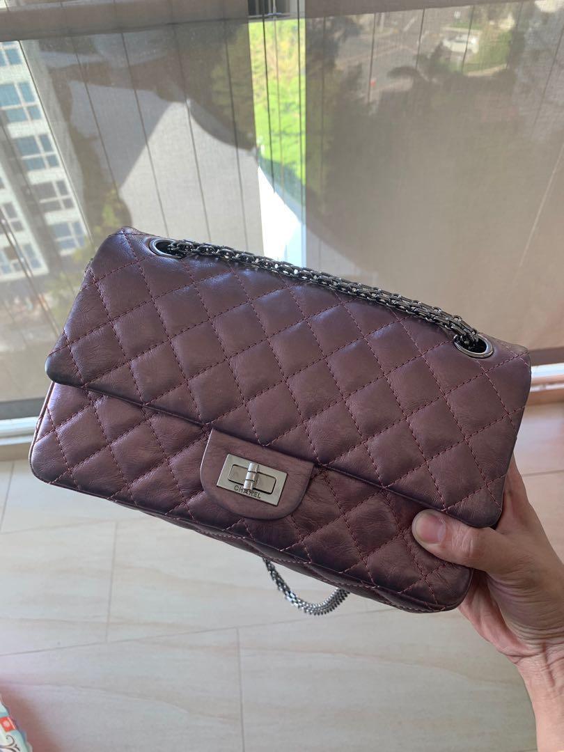 316fce2b7493 Chanel Vintage reissue in size 225 (metallic purple), Luxury, Bags ...