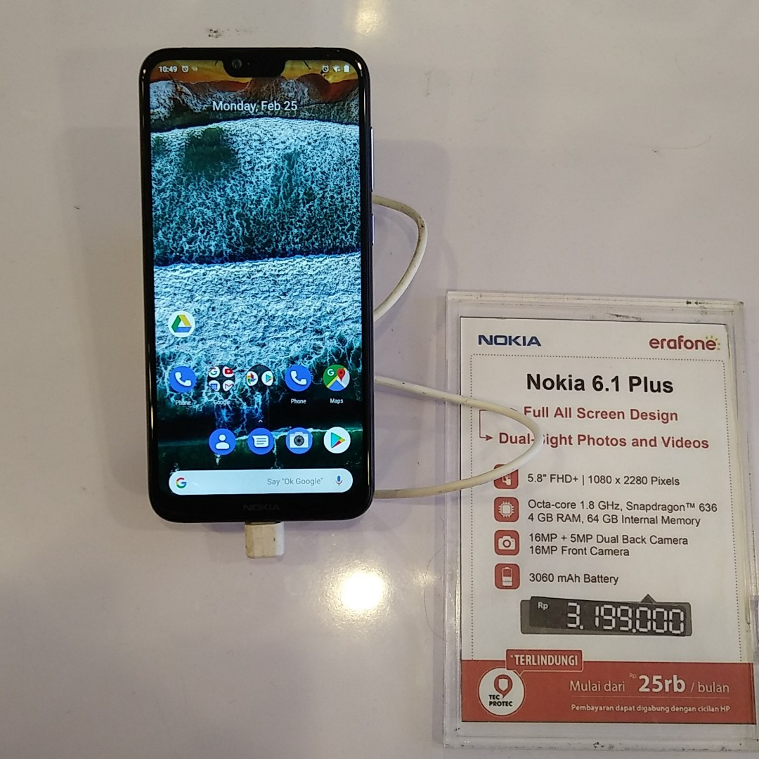 Cicilan Tanpa CC Hp Nokia 6.1 Plus Cash Back 200k b4e3279355