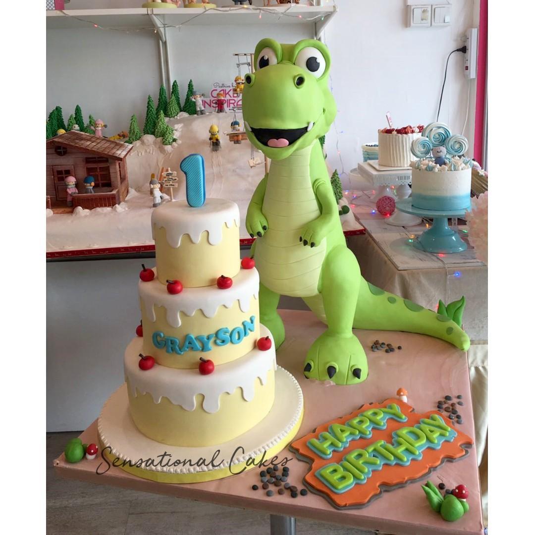 Prime Gigantic Standing Height Dino And Birthday Cake 3D Giant Children Personalised Birthday Cards Veneteletsinfo