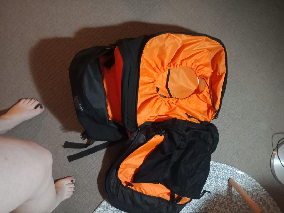 Explorer Palooka 65kg travel pack with attached day pack