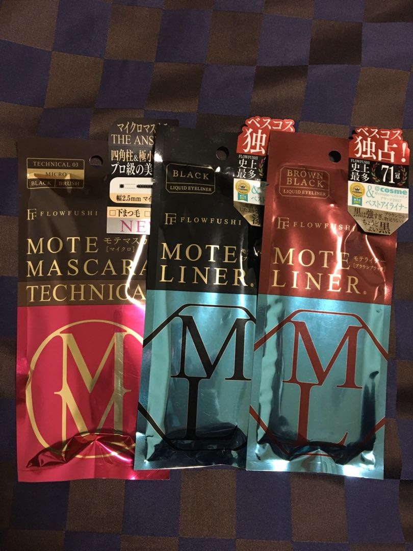 09c93bfe72d Flowfushi Mote Mascara and Liner, Health & Beauty, Makeup on Carousell