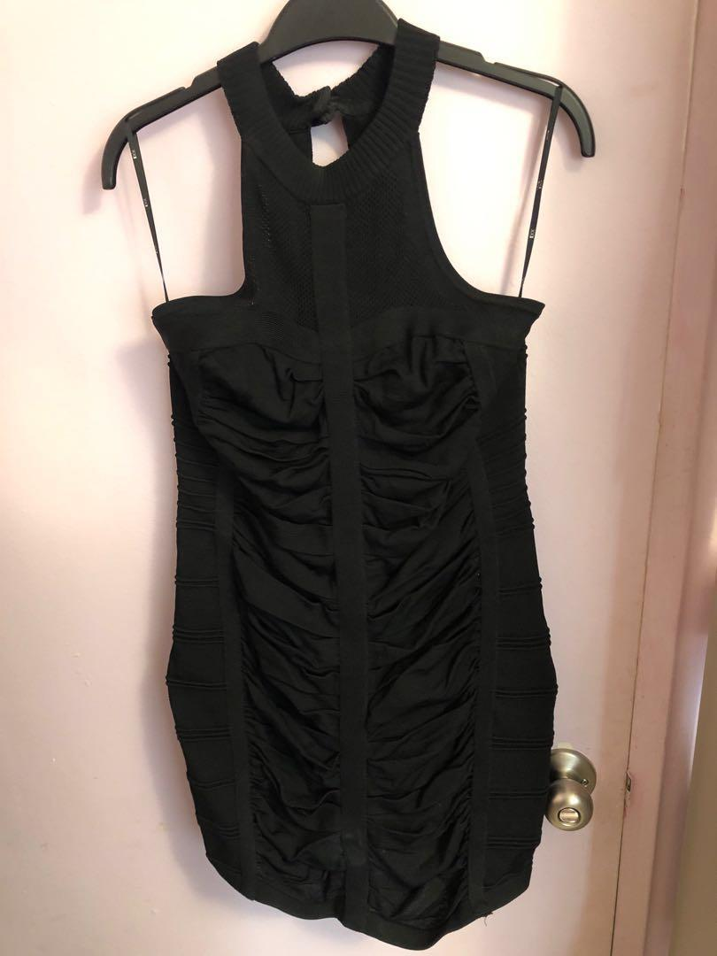 Forever 21 fitted black dress
