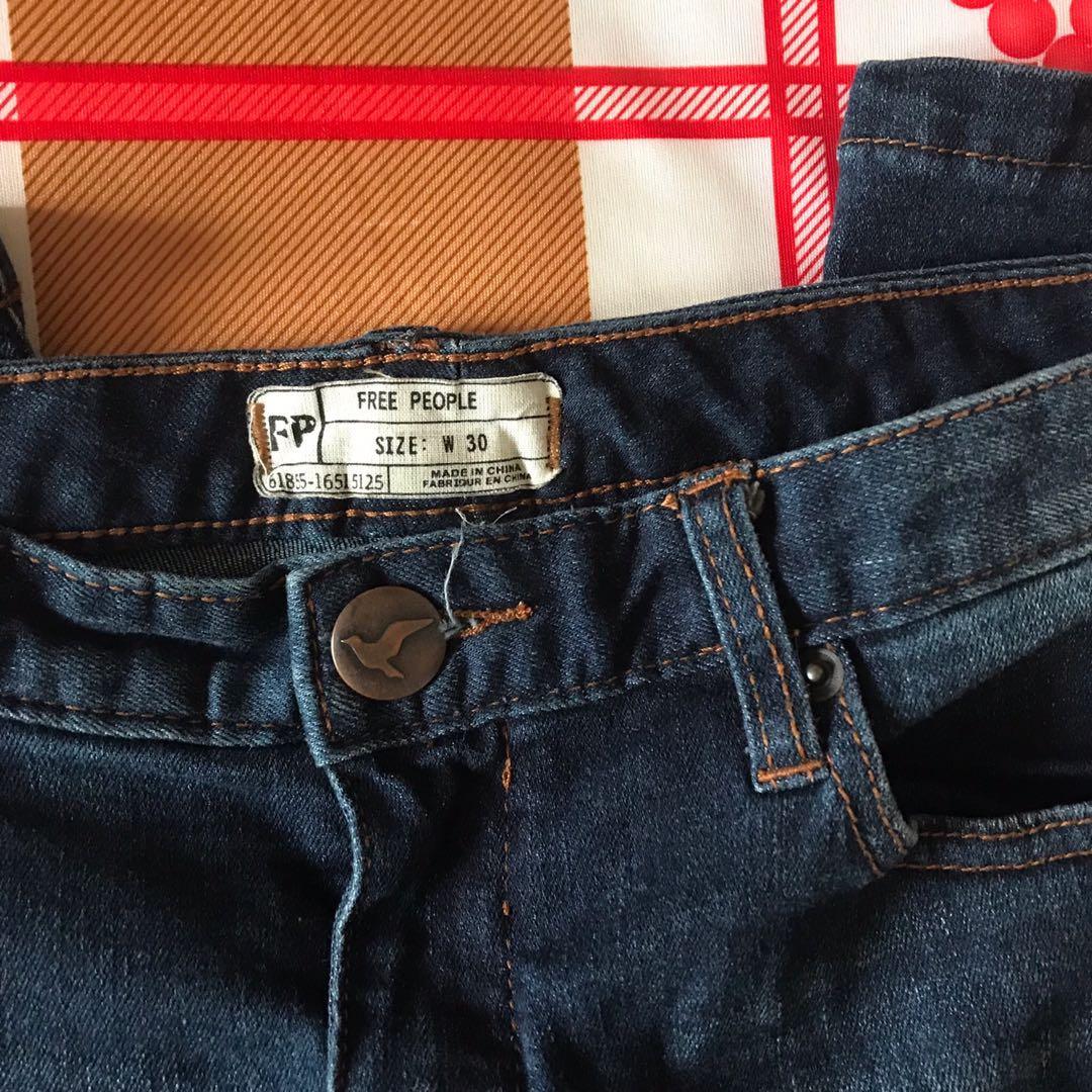 Free People High Waisted Denim Skinny Jeans