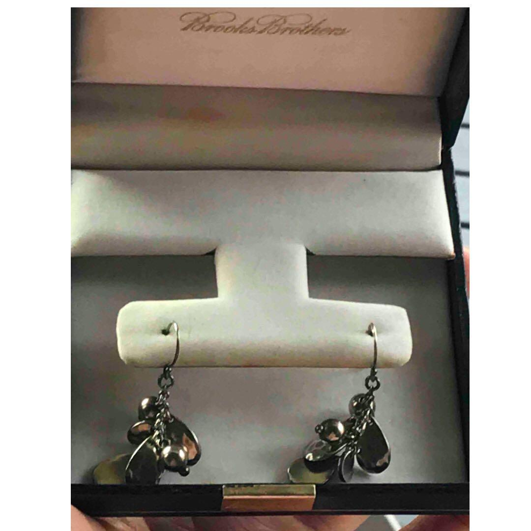 "Genuine Brooks Brothers ""925"" stamped silver earrings"