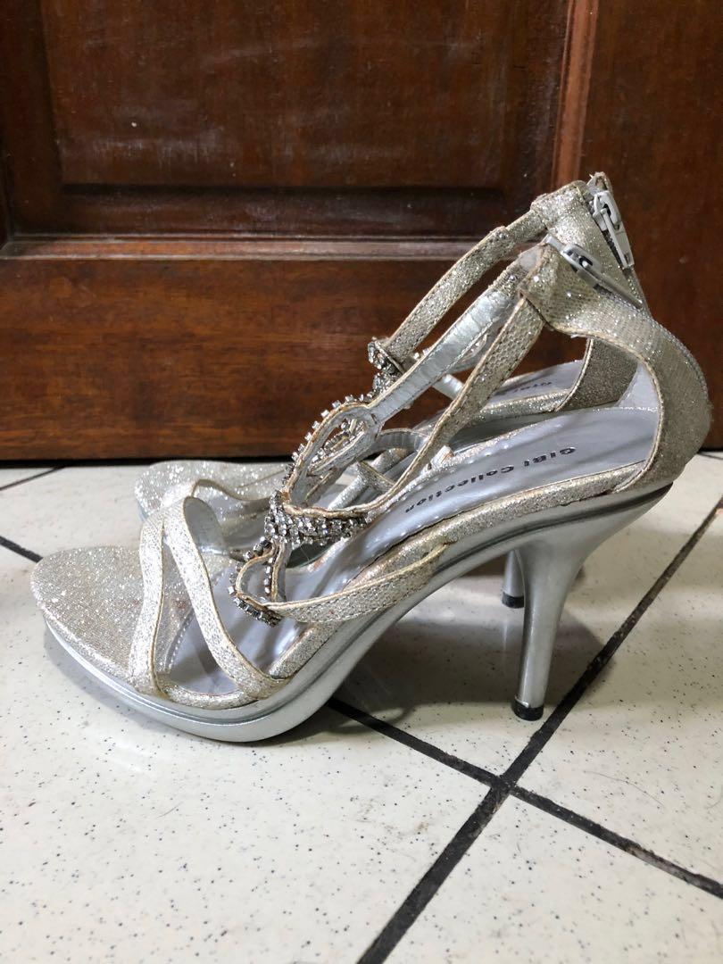 a33cb286ab9 Gibi Collection 3 inch Silver Shoes (Stilettos)