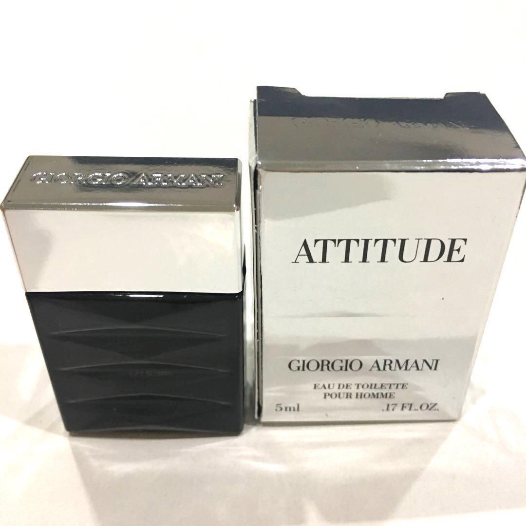 Giorgio Armani Attitude Edt 5ml Mini Perfume Rare Health Beauty