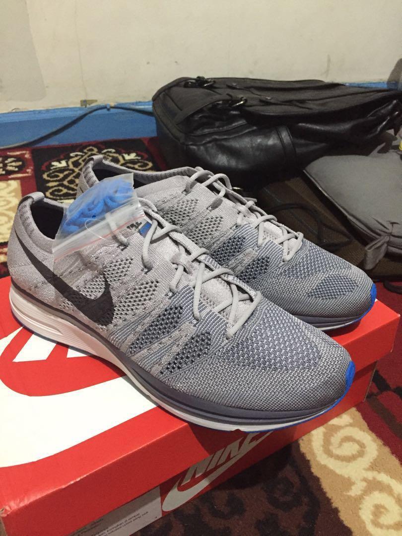 jual wts sneakers sepatu nike flyknit trainer abu abu grey original murah  bnib 313e83321d