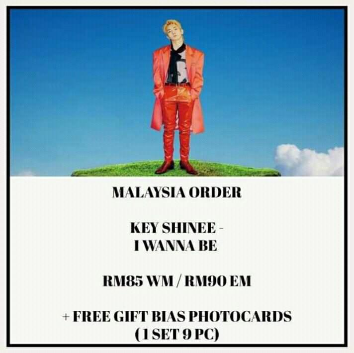 KEY SHINEE - I WANNA BE- ALBUM PREORDER/NORMAL ORDER/GROUP ORDER/GO + FREE GIFT BIAS PHOTOCARDS (1 ALBUM GET 1 SET PC, 1 SET HAS 9 PC)