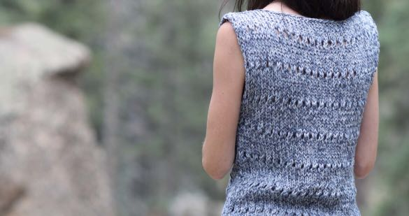 Knit Kit Eyelet Sleeveless Top With Lionbrand Lb Collections Cotton
