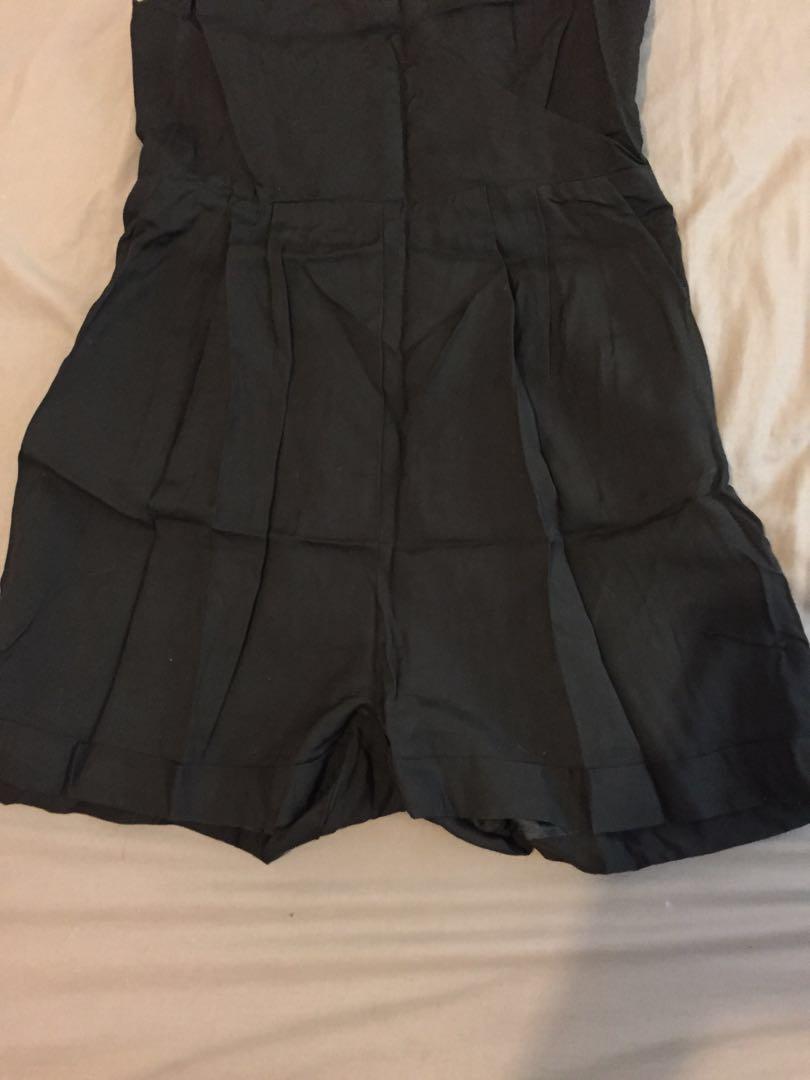 Kookai size 40 black jumpsuit / shorts onesie
