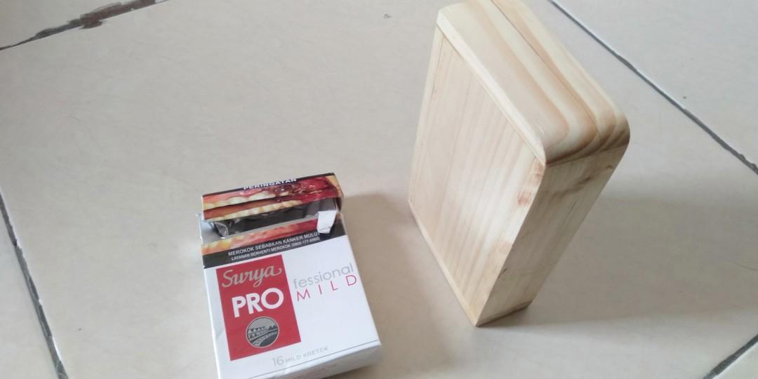 Kotak Rokok kayu