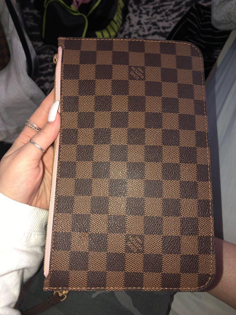 Louis Vuitton Neverfull Pochette Damier Ebene