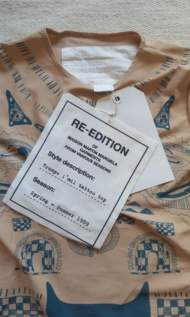 Maison Martin Margiela for H&M re-edition Trompe L'oeil tattoo top