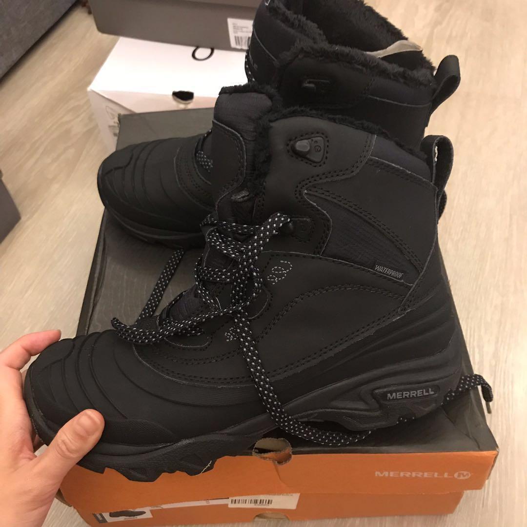 95d012a665d Merrell Snowbound Mid Waterproof hiking boots, Women's Fashion ...