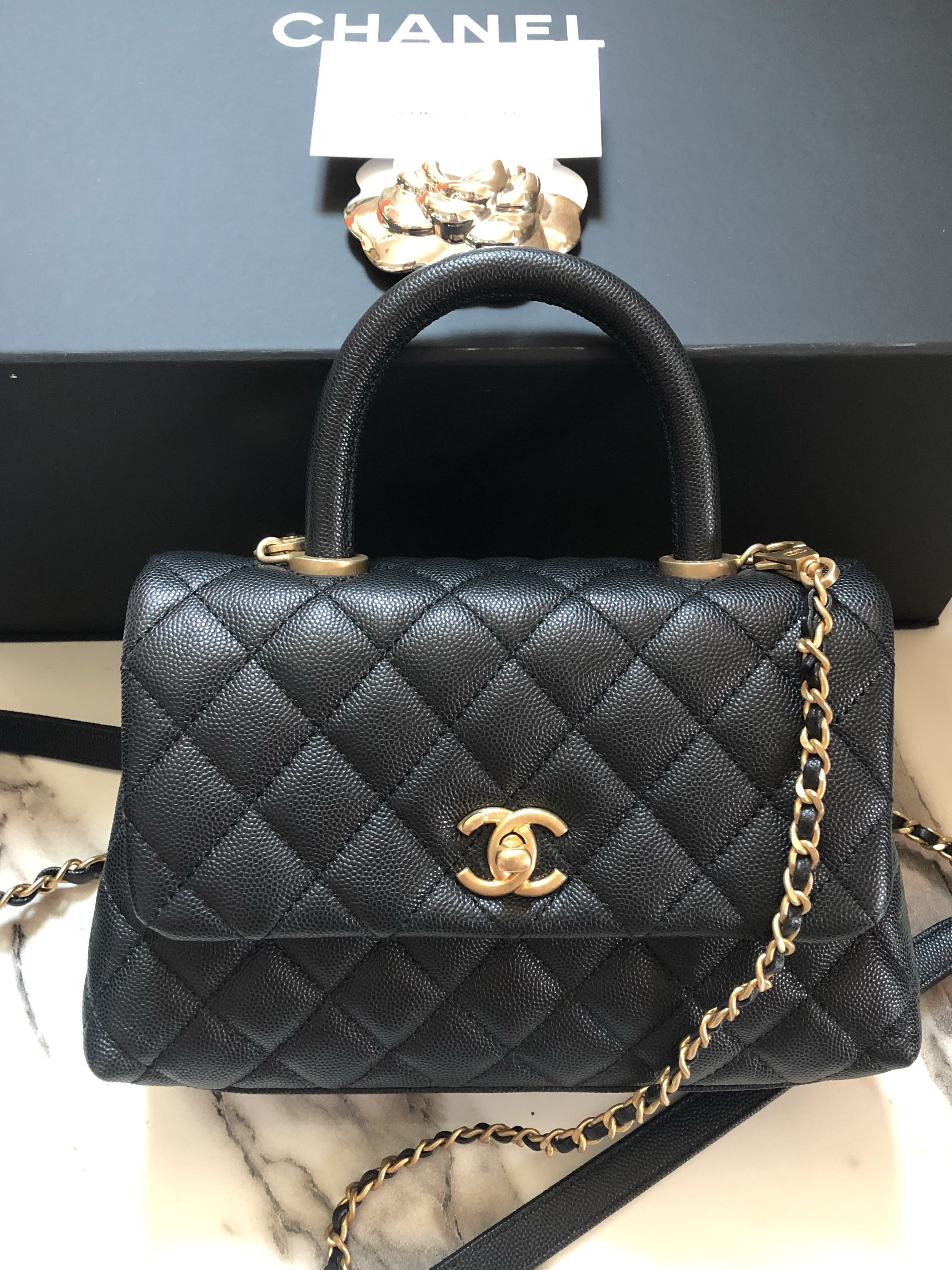 7f8f5aabd0c105 New Arrival Chanel coco handle mini, Luxury, Bags & Wallets, Handbags on  Carousell