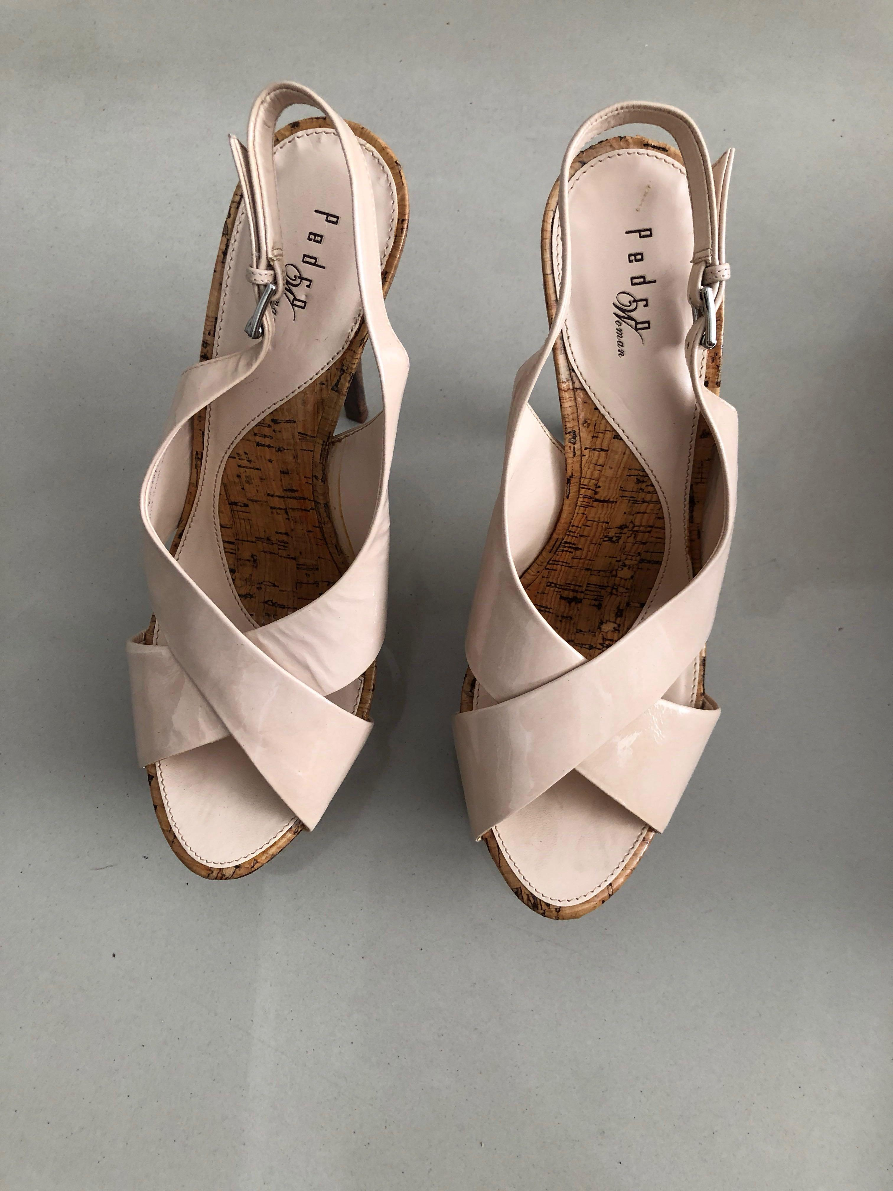 PEDRO Woman Sexy Nude Heels patent sling back