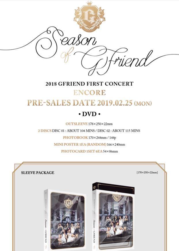[PO] 2018 Gfriend First Concert Encore SEASON OF GFRIEND