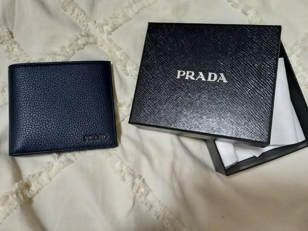 b17116a338e6 Prada Men's Wallet, Men's Fashion, Bags & Wallets, Wallets on Carousell