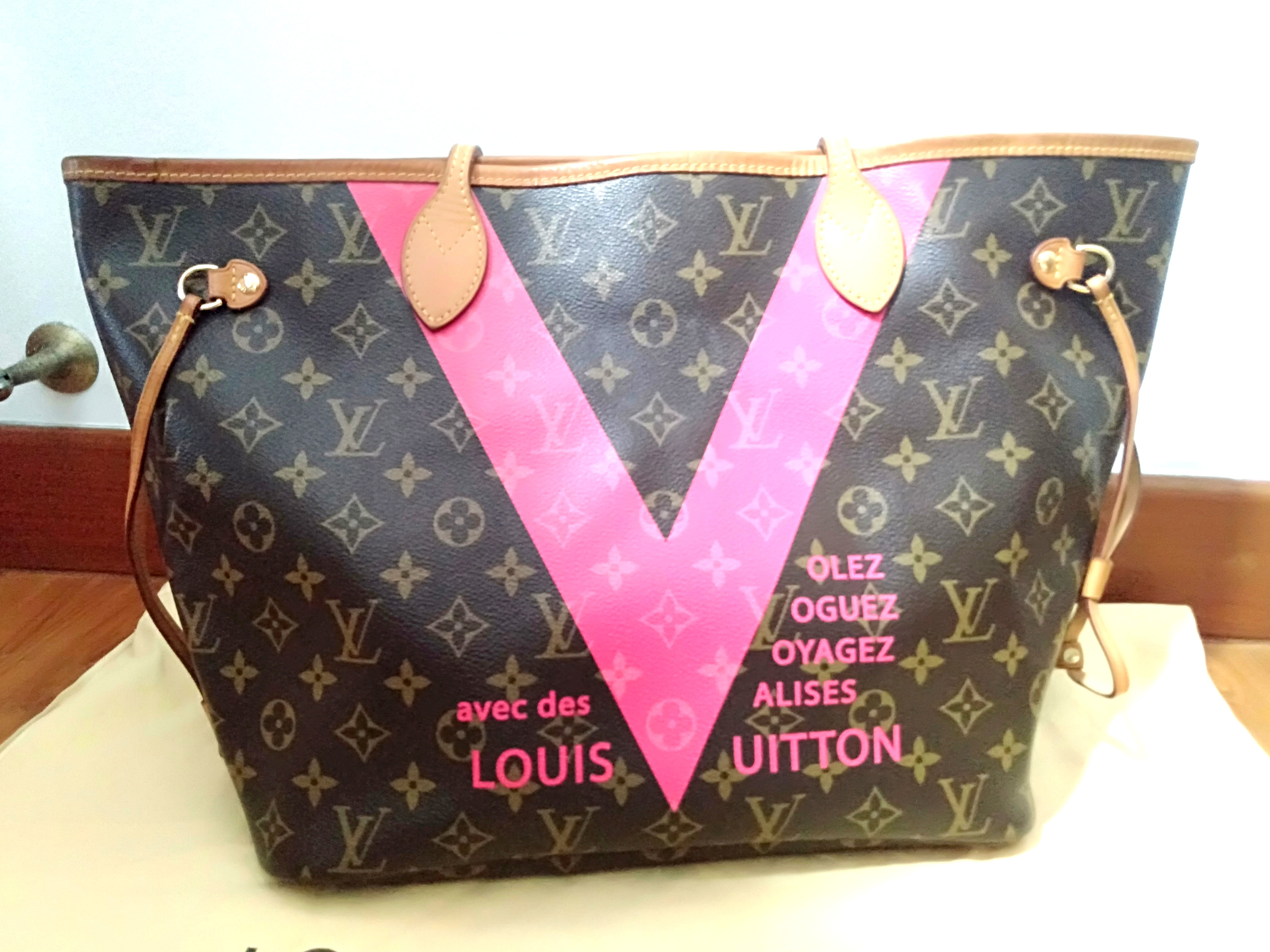 4d75c4b96edf 💕PRE OWNED💕 Louis Vuitton Neverfull MM Grenade V