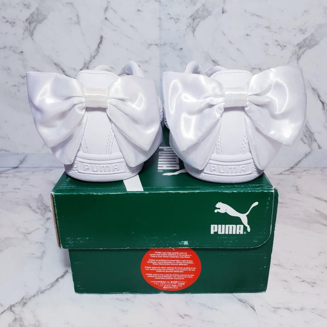 Puma Basket Bow Sneakers in White - BRAND NEW with BOX